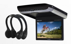 Alpine PKG-RSE3HDMI 10.1-inch Overhead Monitor with DVD Player and HDMI Input