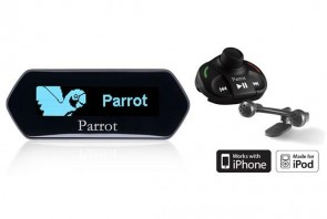 Parrot MKi9100 Bluetooth Hands Free Car Kit for iPod and iPhone with Blue LCD Display
