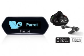 Parrot MKi9100 24V Bluetooth Hands Free Car Kit for iPod and iPhone with Blue LCD Display